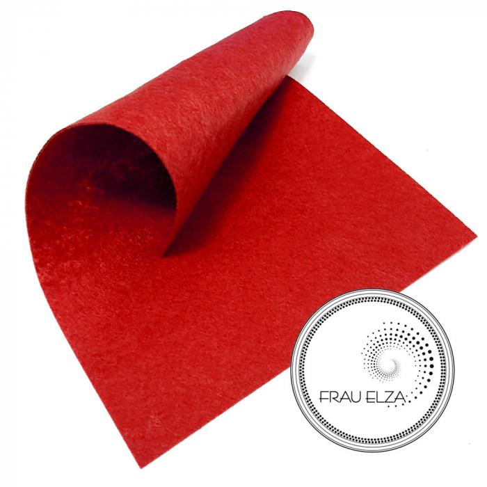 Фетр листовой, красный