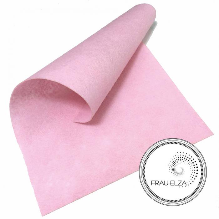 Фетр листовой, бледно-розовый