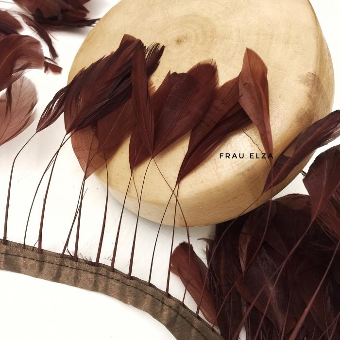 Перья петуха на ножках, шоколад
