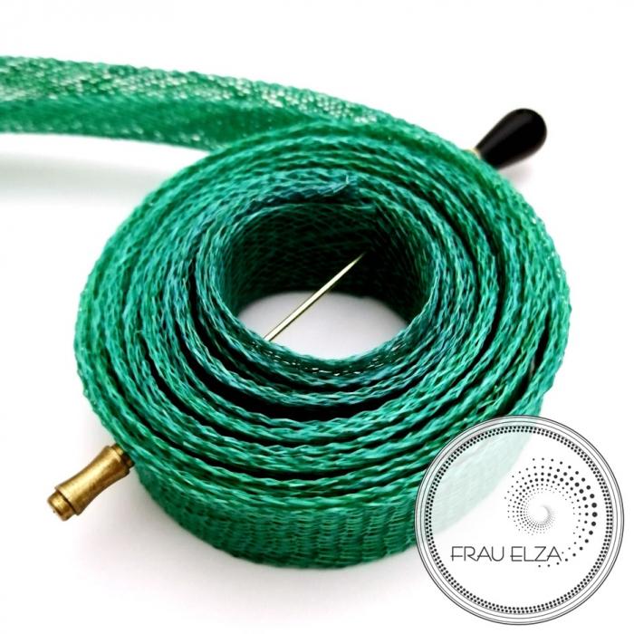 Лента синамей, зеленая